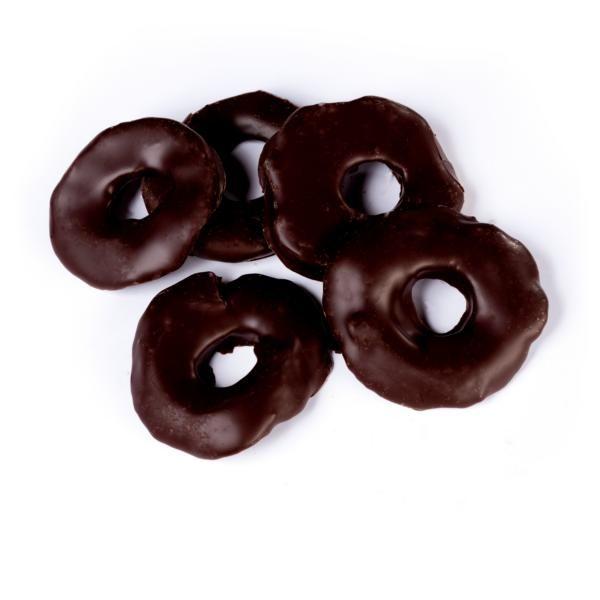 Apfelringe in Zartbitterschokolade