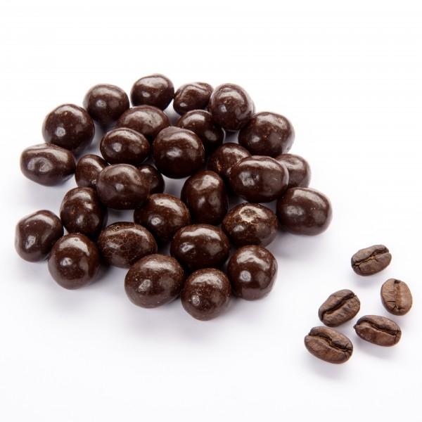 Kaffeebohnen mit Zartbitterschokolade