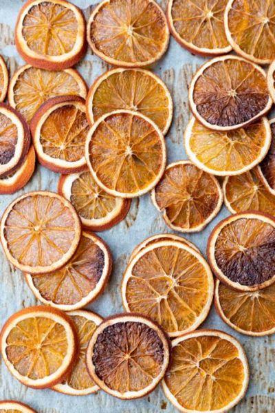 Orangen-Scheiben getrocknet
