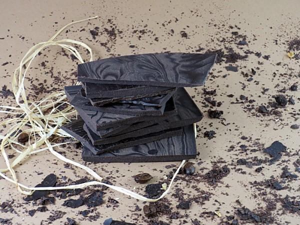 Minz Zartbitter Cocoalade OHNE ZUCKER, Bruchcocoalade - aus der Schokoladenmanufaktur PRAMA